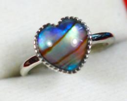 Natural Ammolite 925 Silver Ring