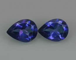 2.50 CTS WONDERFUL TANZANITE COLOR COTED TOPAZ PEAR