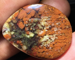 27.00 CT GORGEOUS MOSS AGATE GARDEN PICTURE FROM INDONESIA