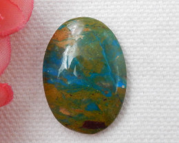 15cts Blue Opal Cabochon, October Birthstone, Blue Opal Bead F136