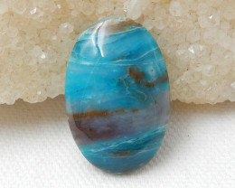 22.5cts Blue Opal Cabochon, October Birthstone, Blue Opal Bead F151