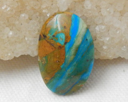 18cts Blue Opal Cabochon, October Birthstone, Blue Opal Bead F131