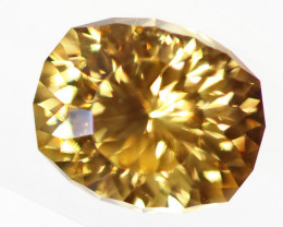 3.62 carats Golden Tourmaline Faceted Stone ANGC837