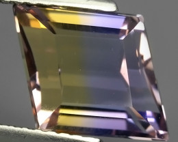 3.70 CTS-EXQUISITE NATURAL UNHEATED FANCY-CUT BI COLOR AMETRINE