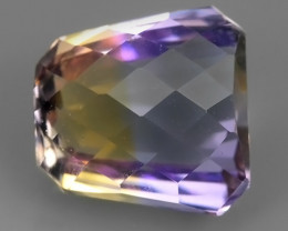 5.25 CTS-EXQUISITE NATURAL UNHEATED FANCY-CUT BI COLOR AMETRINE