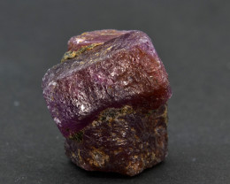 Natural Ruby Crystal 43.44 Cts from Guinea, Unique Formation