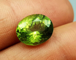 6Crt Peridot With Rutile  Natural Gemstones JI78