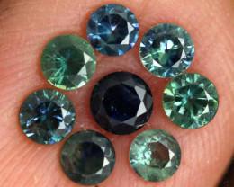 1.12-CTS Australian Sapphire Faceted Parcel( 8 pcs)  PG-3274
