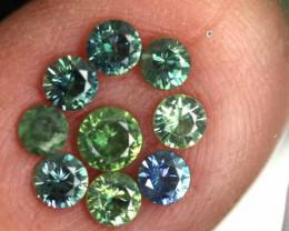 1.16-CTS Australian Sapphire Faceted Parcel( 9 pcs)  PG-3276