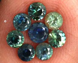 1.09-CTS Australian Sapphire Faceted Parcel( 8 pcs)  PG-3277