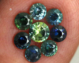 1.13-CTS Australian Sapphire Faceted Parcel( 8 pcs)  PG-3278