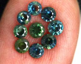 1.10 -CTS Australian Sapphire Faceted Parcel( 9 pcs)  PG-3279