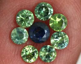 1.02-CTS Australian Sapphire Faceted Parcel( 8 pcs)  PG-3280