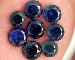 1.33-CTS Australian Sapphire Faceted Parcel( 8 pcs)  PG-3283
