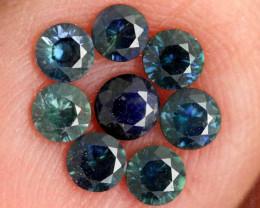 1.09-CTS Australian Sapphire Faceted Parcel( 8 pcs)  PG-3284