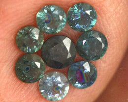 1.16-CTS Australian Sapphire Faceted Parcel( 8 pcs)  PG-3285