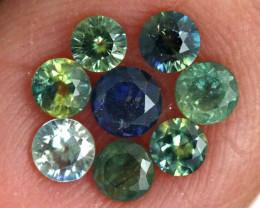 1.11-CTS Australian Sapphire Faceted Parcel( 8 pcs)  PG-3288