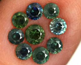 1.20-CTS Australian Sapphire Faceted Parcel( 9 pcs)  PG-3289