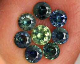 1.09-CTS Australian Sapphire Faceted Parcel( 8 pcs)  PG-3292