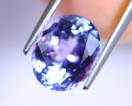 4.31cts Natural CERTIFICATE Violet Blue D Block Tanzanite / RD388