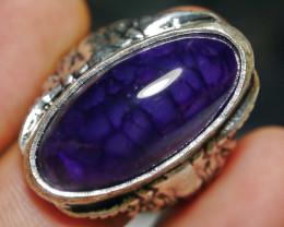77.40 CT Beautiful Purple Dragon Skin Agate Jewelry Ring