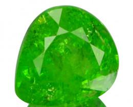 1.04 Cts Natural Radium Green Grossular Garnet Pear Cut Russia
