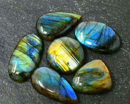 Genuine 371.00 Cts Amazing Flash Labradorite Cabochon Lot