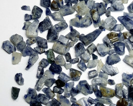 Amazing Natural Blue color Sapphire crystals rough lot 250 Cts-A#4