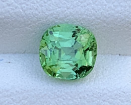 Mint Apple Green 1.35 Carats Natural Color Tourmaline Gemstone FROM AFGHANI