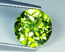 2.43 ct  Top Quality Gem  Round Cut Top Luster Natural Peridot