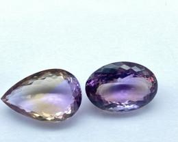 50.13 ct Ametrine Lot of 2 gemstones