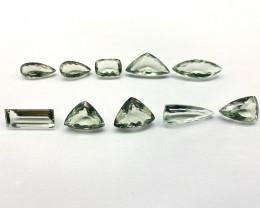 102.92 ct Quartz Lot of 10 gemstones