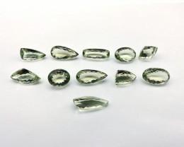 252.92 ct Quartz Lot of 11 gemstones