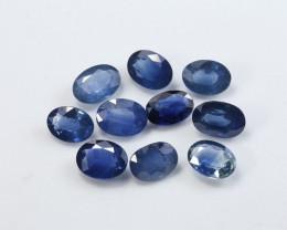 **No Reserve** 9.13tcw Natural Blue Sapphire Parcel (10pcs)