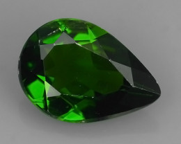 1.90 Cts MARVELOUS RARE PEAR NATURAL TOP GREEN- CHROME DIOPSIDE DAZZL