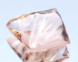 2.35 Cts Natural Peach Pink Morganite Fancy Shape Brazil