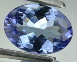 Natural Purplish Blue Tanzanite 0.74 Cts Oval Cut Tanzania 7x5mm