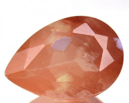 2.05 Cts Natural Brownish Red Sunstone Andesine Pear Congo