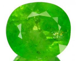 Radium Green!!! 0.95 Cts Natural Grossular Garnet Oval Cut Russia