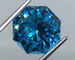 7.70 Carat IF Topaz Electric Blue Master Cut Flawless !