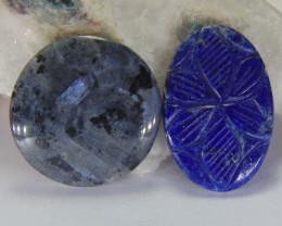 Mix shapes Natural Gemstone cabochons 72.25 cts