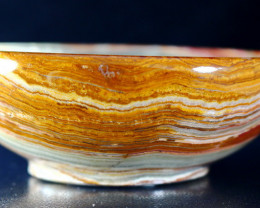 710 CT Natural - Unheated Onyx Carved Bowl Stone Special Shape
