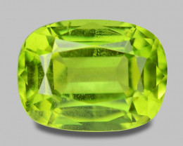 1.65 Cts Amazing Rare Fancy Green Natural Peridot Gemstone