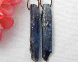 40cts Blue kyanite earrings ,natural kyanite earrings ,healing stone F162