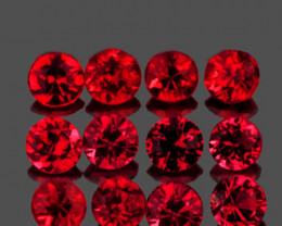 2.70 mm Round 12 pcs 1.01cts Red Spinel [VVS]