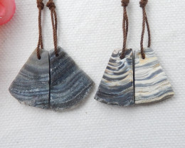 40cts Raw Agate Earrings,2 Pairs Natural Agate Earrings ,Healing Stone F183