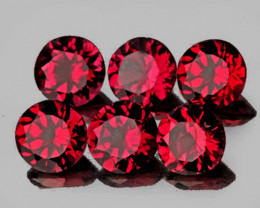 3.20 mm Round 6 pcs Red Spinel [VVS]