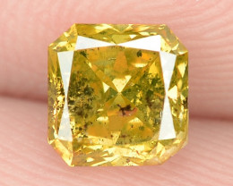 0.78 Cts Untreated Fancy Yellowish Green  Color Natural Loose Diamond