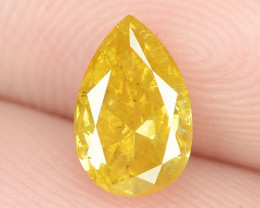 0.73 Cts Untreated Fancy Vivid Yellow Color Natural Loose Diamond