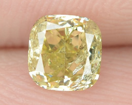 0.50 Cts Untreated Fancy Yellowish Green  Color Natural Loose Diamond